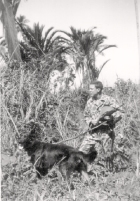 Bill Garbo & Teddy shortly after arriving at New Guinea