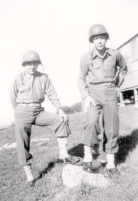 Johnny Gatto & Bill Garbo just before sentry duty with their dogs